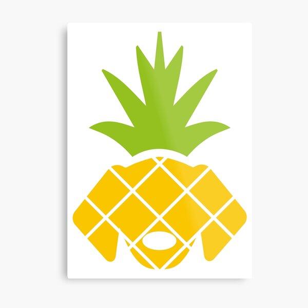 Pineapple Dog Metal Print