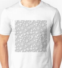 Seamless background of white roses with shadow T-Shirt