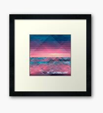 Abstract Triangle Vector Pattern Texture Framed Print