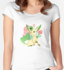 Leafeon (Blossom) Women's Fitted Scoop T-Shirt