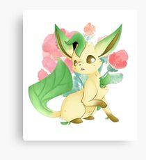 Leafeon (Blossom) Canvas Print