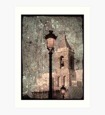 Tower and light Art Print