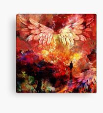 Red night - abstract painting lea roche - dreamcatcher Canvas Print