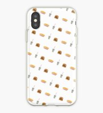 In N Out Burger Fries Shake Pattern iPhone Case