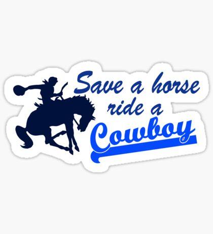 Cowboy t-shirt Sticker