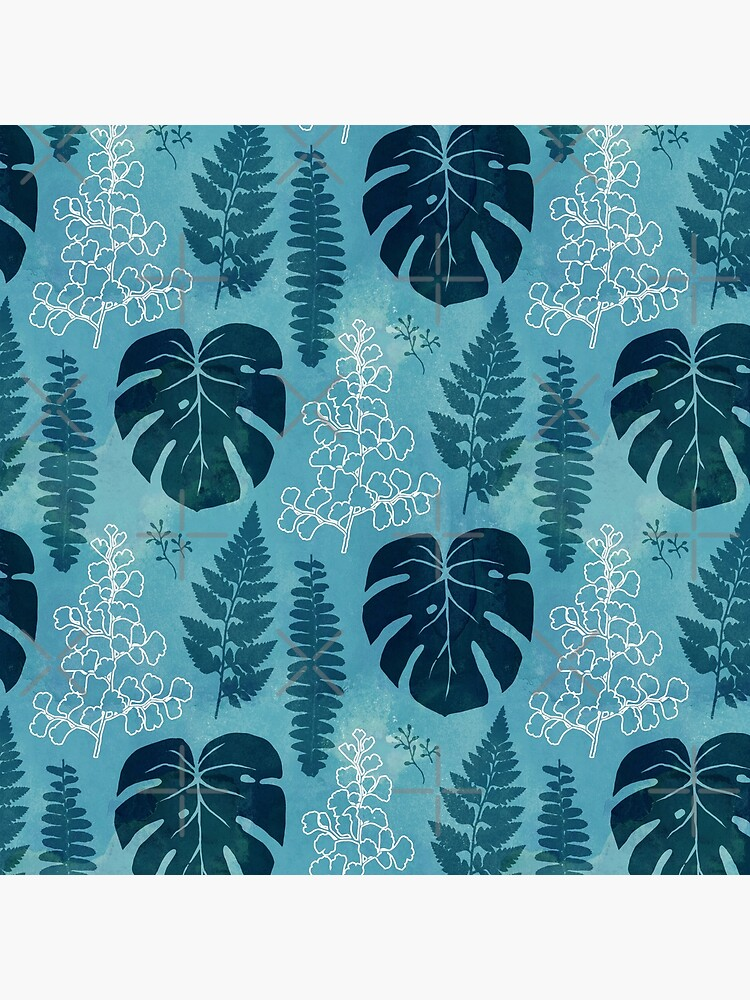 Turquoise tropical leaves by adenaJ