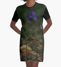 Single Bluebell in Prehen Woods, Derry Graphic T-Shirt Dress