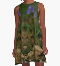 Single Bluebell in Prehen Woods, Derry A-Line Dress