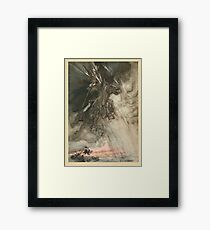The Rhinegold & The Valkyrie by Richard Wagner art Arthur Rackham 1910 0012 Raging Wotan Framed Print