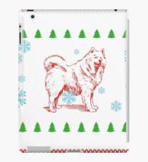 gift christmas weihnachten geschenk dog hund husky  iPad Case/Skin