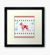 gift christmas weihnachten geschenk dog terrier dog hund  Framed Print