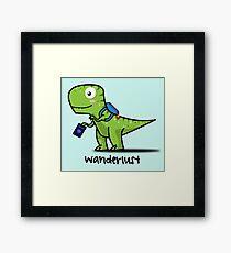 T-Rex Wanderlust Framed Print