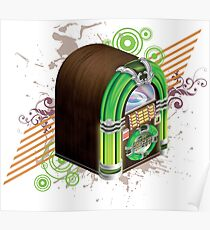 Mini Jukebox (Green) Poster