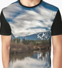 River View of Whistler and Blackcomb  Graphic T-Shirt