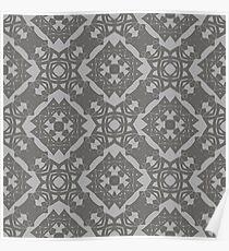 Ornamental Seamless Line Pattern. Endless Texture. Oriental Geometric Ornament Poster