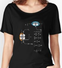 Newtons 2nd Law of Motion with POrtals 1.2 (White) Women's Relaxed Fit T-Shirt