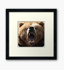 MAD GRIZZ Framed Print
