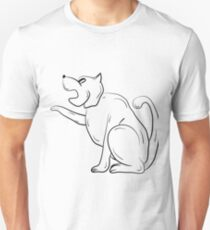 The Black and White Contour of the Dog. T-Shirt