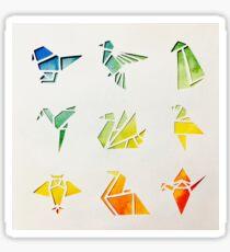 Watercolour Origami Birds Sticker