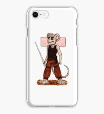 Inktober: Fierce + Mouse (m) iPhone Case/Skin