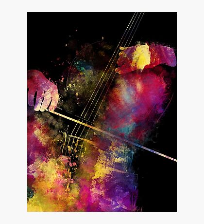 Violoncello art 1 #violoncello #cello #music Photographic Print