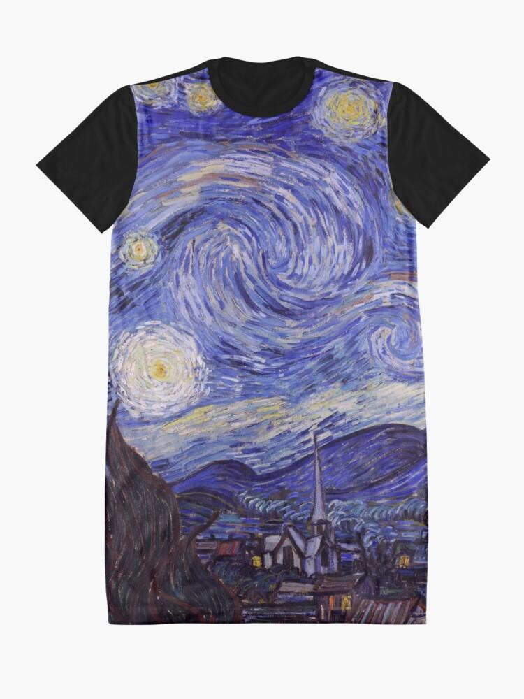 Alternate view of Vincent Van Gogh Starry Night Graphic T-Shirt Dress
