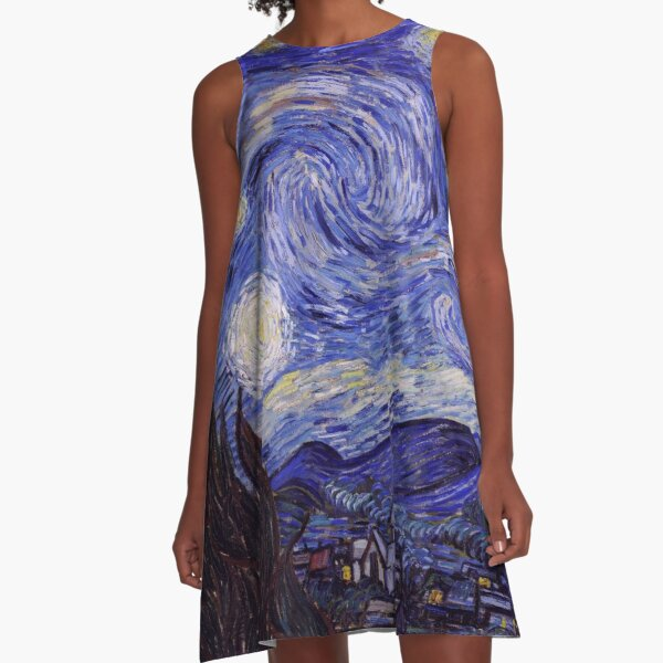 Vincent Van Gogh Starry Night A-Line Dress