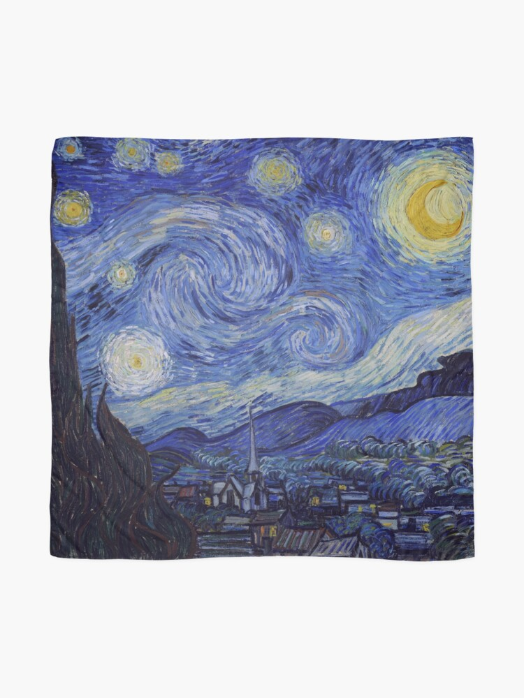 Alternate view of Vincent Van Gogh Starry Night Scarf