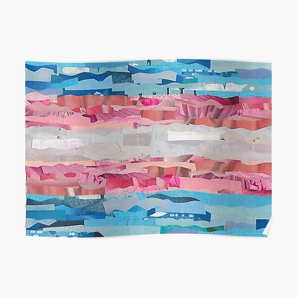 Trans Pride Flag Collage Poster