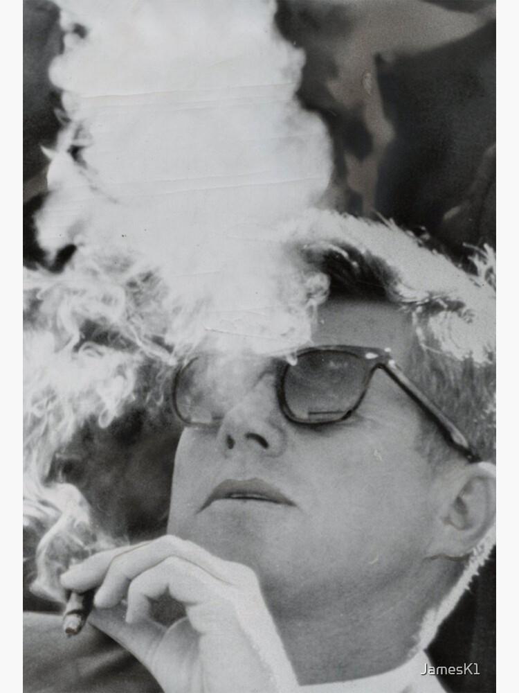 JFK Smoking with Shades John F. Kennedy President T-Shirt by JamesK1