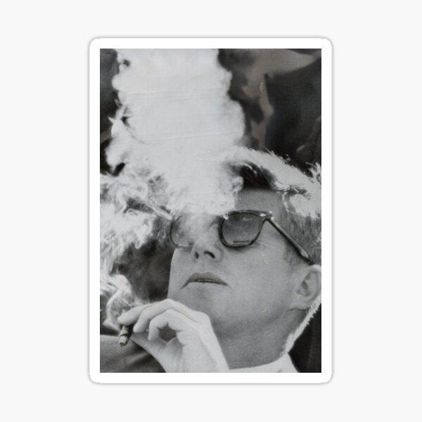 JFK Smoking with Shades John F. Kennedy President T-Shirt Sticker