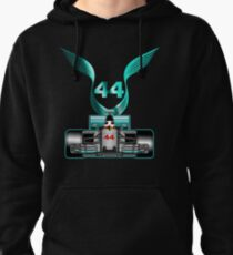 Lewis Hamilton on his car Pullover Hoodie
