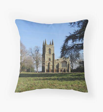 Canons Ashby Church Throw Pillow