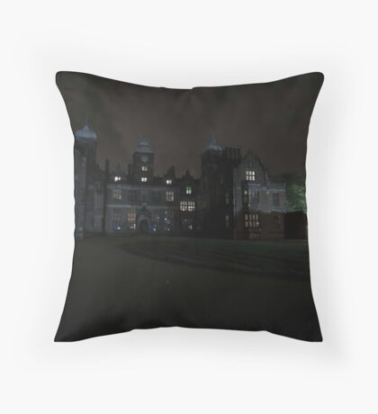 Aston Hall by Candlelight (Exterior) Throw Pillow