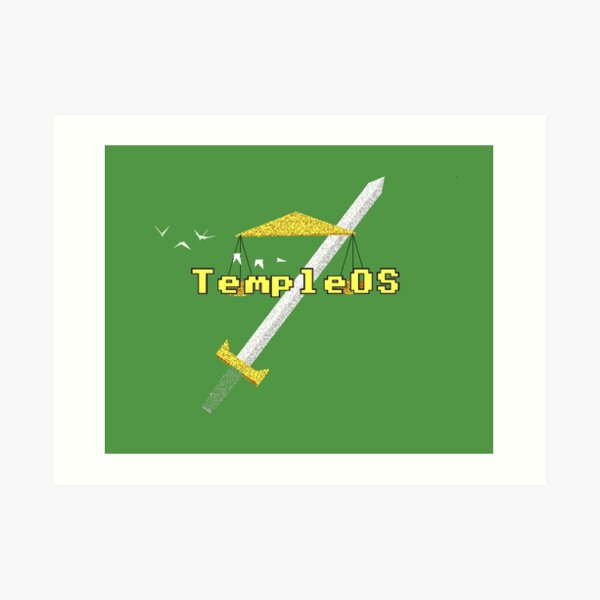 TempleOS New Art Print