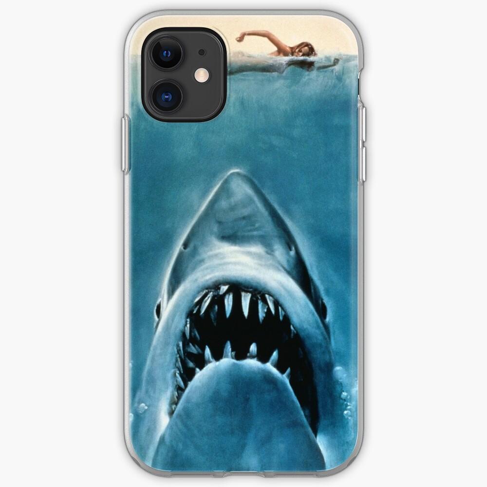 White Shark Jaws iphone case