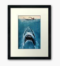 JAWS SHARK Framed Print