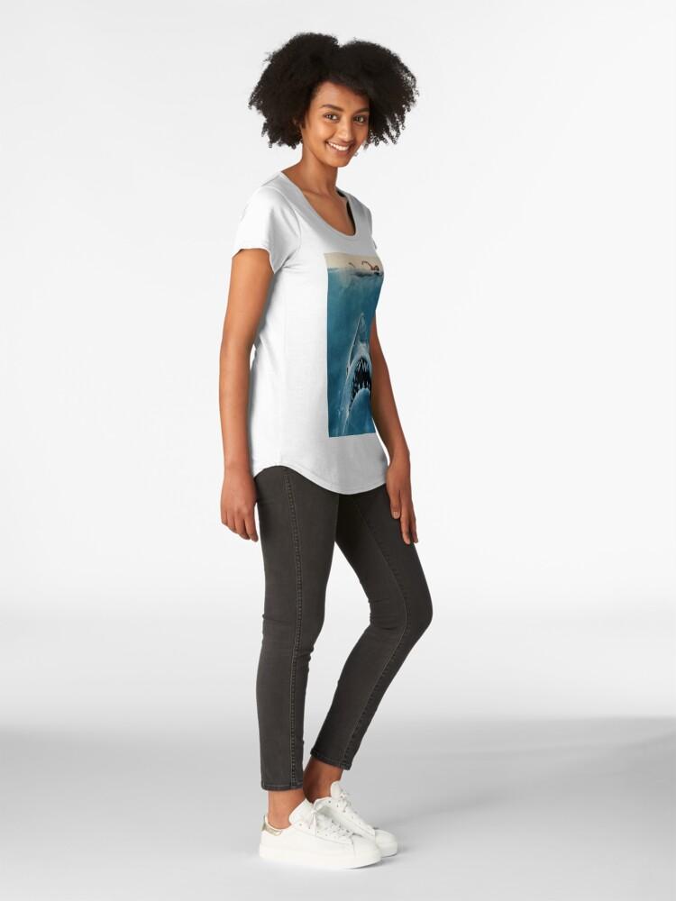 Alternative Ansicht von JAWS SHARK Premium Rundhals-Shirt