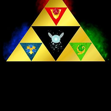 Legend of Zelda Triforce Ocarina of Time Navi Power Wisdom Courage  by forkshifter