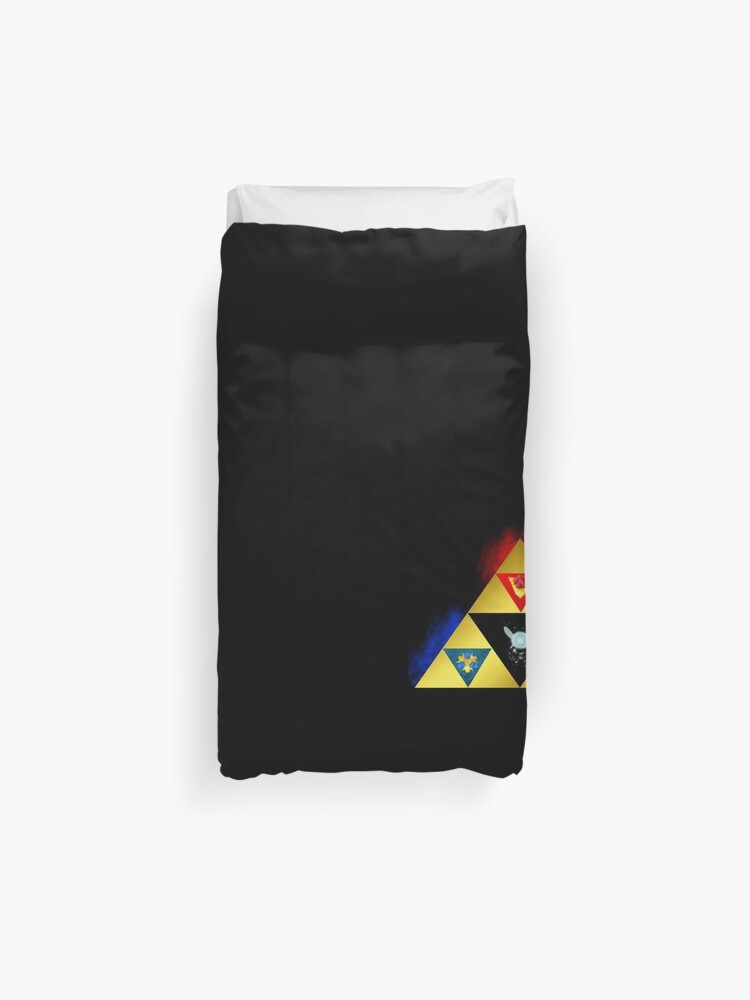 Legend Of Zelda Triforce Ocarina Of Time Navi Power Wisdom Courage Housse De Couette