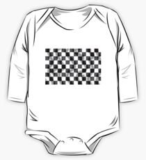 Chequered Flag Slight Ripple One Piece - Long Sleeve