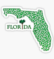 State of Florida Maze Sticker