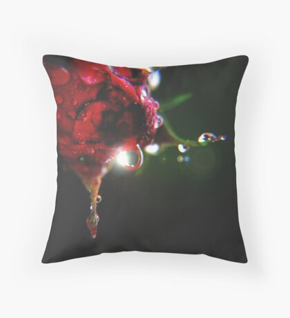 Dark Rose Throw Pillow