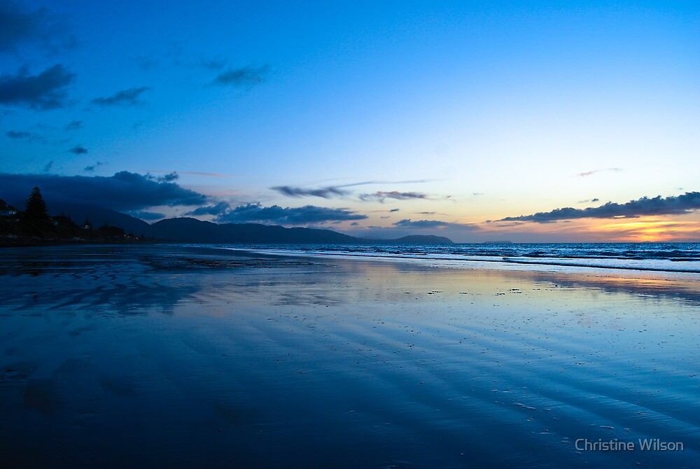 Raumati Beach NZ  by Christine Wilson