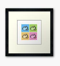 four shades of hamster Framed Print