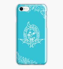 every day is halloween (teal & white) iPhone Case/Skin
