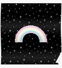 Pixel Rainbow Poster