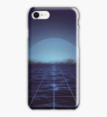 80s retro vaporwave blue ocean edition iPhone Case/Skin