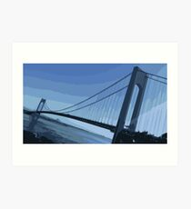 Verrazano Bridge Blue Art Print