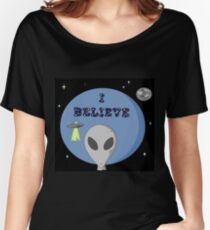 Do you believe in Aliens?? Women's Relaxed Fit T-Shirt